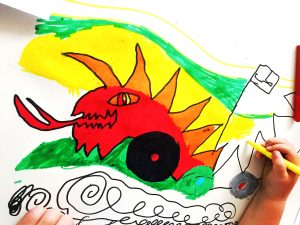 Locws International Schools Flag Project: Design from Pentre'r Graig Primary School Featuring a Dragon