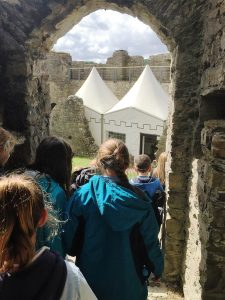 Whitestone Primary School Pictured on a Tour of Oystermouth Castle
